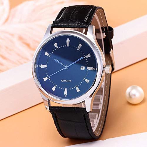 YXXERSHI casual kwarts-enkele kalender-herenhorloge voor zakenmensen A.
