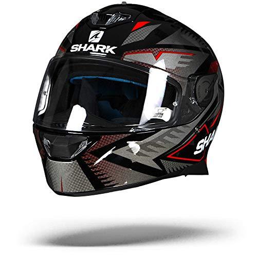 Shark Motorradhelm Hark Skwal 2 Draghal, Schwarz/Rot, Größe S