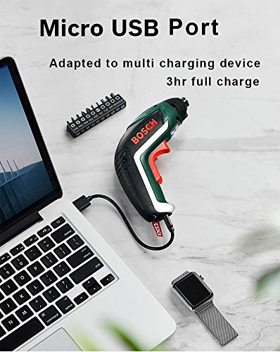IXO V Screwdriver   Professional Cordless Electric Color 3.6V USB Rechargeble Lightweight Small Convenient Home Deco Li-ion Battery (Green) Made in Hungary