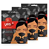 Yes To Tomatoes Detoxifying Charcoal Paper Mask 3 Pack, Black