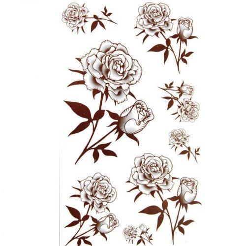 Sexy autocollants de tatouage étanche Rose noire