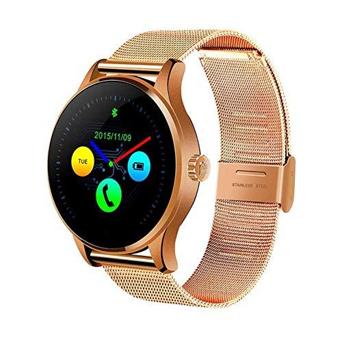 K88H Multifunción Reloj Inteligente 1,22 Pulgadas IPS Monitor De Frecuencia Cardíaca Compatible Con La Pantalla Redonda De La Aptitud De Bluetooth Reloj Inteligente Multi-Deporte A Prueba De Agua,G
