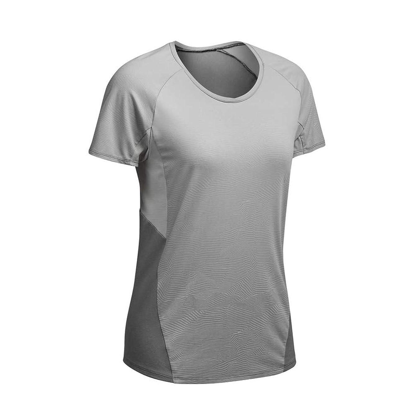 化学者桁些細なスポーツ速乾性のあるTシャツヨガ服フィットネス服女性スポーツトップス