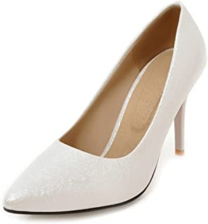 Smilice Women High Heels Pointed Toe Shoes for Wedding & Party