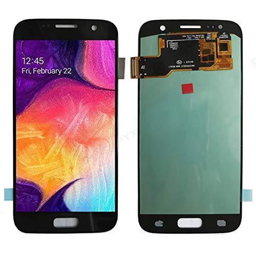 Marco de pantalla táctil de teléfono móvil Ajuste LCD Ajustado Para Fit For Galaxy S7 SM-G930F LCD Pantalla Táctil Digitalizador De Digitalizador LCD Fit Para Fit For Samsung S7 G930 Reemplazo De Pant