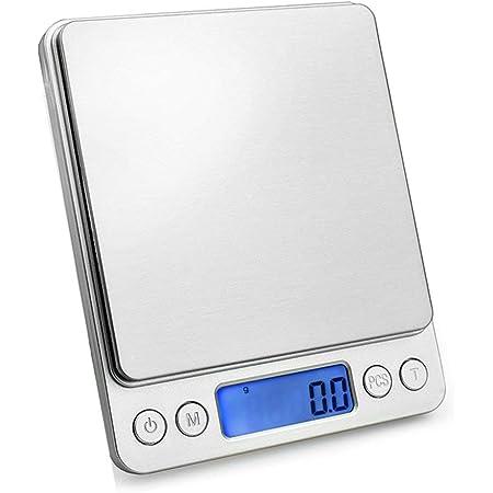 3kg LCD Digital Feinwaage Elektronische Edelstahl Küchenwaage für Kochen Schmuck