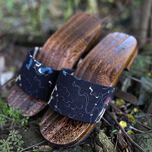 YXCKG Hausschuhe Männer Hausschuhe, Holzschuhe Sandalen Japan Traditionelle Schuhe, Japan Traditionelle Schuhe Geta Huge Sole Flip Flops, Beach Slipper Lope Sandalen Schuhe (Color : G, Size : Diminutive) thumbnail