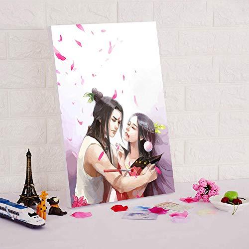 SiJOO Pittura Digitale ad Olio Fai da Te Sette zucche Pittura Digitale Digitale Pittura modulare in...
