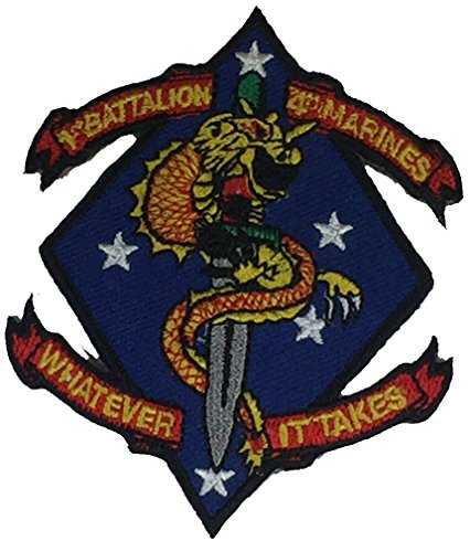 USMC FIRST BATTALION FOURTH MARINES UNIT Patch - COLOR - Veteran Owned Business. (Marine Corps Unit Patches)