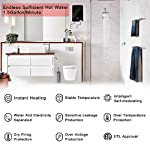 """Tankless water heater electric ecotouch 9kw 240v on demand water heater self-modulating instant hot water heater point… 13 【hot water: instant&endless】 with 9kw tankless water heater electric eco90, you can easily get sufficient hot water of even 116℉or higher. Instead of storing water and long time heating, eco90s electric tankless water heater provides you no waiting instant hot water, nor temperature fluctuations, bringing you instant hot and excellent experience of comfort anytime you want. 【intelligent self modulation】 as water flow reduces, power input decreases: eco90s electric hot water heater intelligently adjusts power input and water temp in real time, which gets you the ideal temp and comfortable hot water. Better still, smart self modulation makes the on demand hot water heater achieve 99. 8% optimal energy efficiency, thus, it will help cut the electricity bill for you. 【upgraded heating system】featuring micro-computer control and patent heating technology, eco90s electric tankless water heater perfectly achieves water heating, keeps outlet temp stable at your need, and promises no """"cold water sandwiching"""". Unique heating element avoids any corrosion inside pipes so as to extend service lifespan of the unit."""