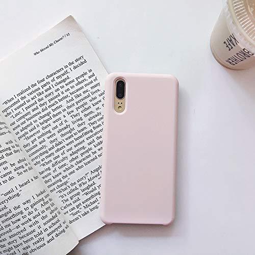 Best ST Coque pour Vivo NEX-S, Silicone Liquide Housse avec Ecran Verre Trempé Gratuit Case Anti-Choc Anti-Rayures Protection Complète Cover Étui de Vivo NEX-S - Pink Rouge