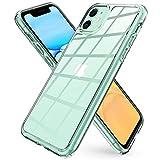 Spigen ガラスケース iPhone11 ケース 6.1インチ 対応 全面クリア 透明 黄変防止 9H 背面強化……
