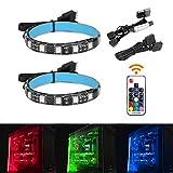 Speclux 2 pcs LED RGB kit de boîtier de tour ordinateur PC de bureau Bande de...