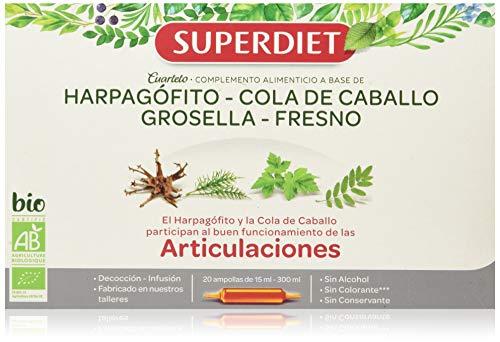 Superdiet Cuarteto paardenstaart, 20 ampullen x 15 ml, in totaal 300 ml
