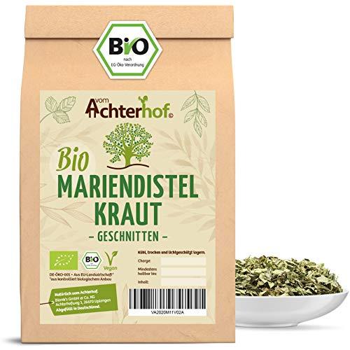 BIO Mariendistelkraut getrocknet geschnitten (250g) Mariendisteltee - milk thistle organic vom-Achterhof