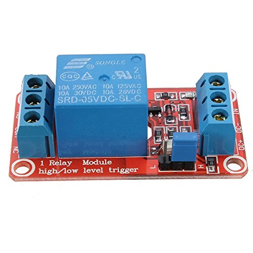 ILS - 10 pieces 5V 1 Channel Level Trigger Optocoupler Relay Module For Arduino