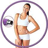 Aro de hula hoop para adultos, varias secciones con acero inoxidable desmontable, peso ajustable, espuma prémium, estable, cómodo, adecuado para el hogar, la oficina, el vientre y el fitness