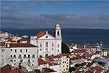 N\A Puzzle Jigsaw Puzzle Puzzle De 500 Piezas para Niños Adultos Portugal Houses Church Alfama Lisbon Educación Interesante Juguete Ensamblado Rompecabezas