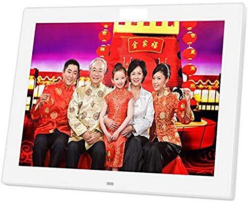 GOHHK 12 Zoll digitaler Bilderrahmen 720P IPS groß HD Ultradünner Vollwinkel 1024x768 mit ferngesteuertem Werbemaschinengeschenk für Freunde der Familie