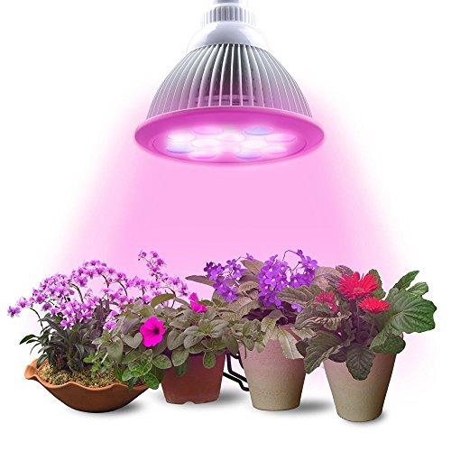 Lumin Tekco LED-Lampe Pflanzenlampe 12 Watt hoch effizient, E27 Sockel, für Wasserpflanzen, Saatgut, Blumen, Topf- und Zimmerpflanzen, Gemüse, Wachstumslampe ,