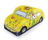 BRISA VW Collection - Volkswagen Escarabajo Coche Beetle Bolsa Universal de Neopreno, Neceser, Bolso de Maquillaje-Cosméticos-Aseo, Estuche de lápices, Caja de Almuerzo, Equipaje (Flores/Amarillo)