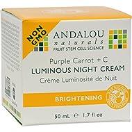Luminous Night Cream Purple Carrot + C - 1.7 oz by Andalou Naturals