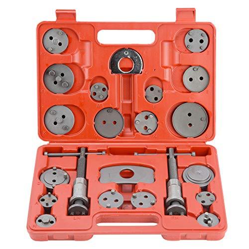 Sfeomi Reposicionador de Pistones de Freno 24 PCS Herramientas de Pinzas de Freno con 2 Árboles Comprimidor de Piston de Freno para Reposicionar el Pistón de Freno