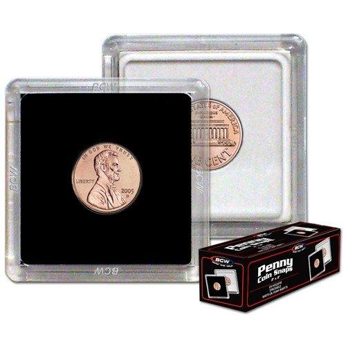 BCW 1-CS-Pen 2X2 Coin Snap – Penny – Black