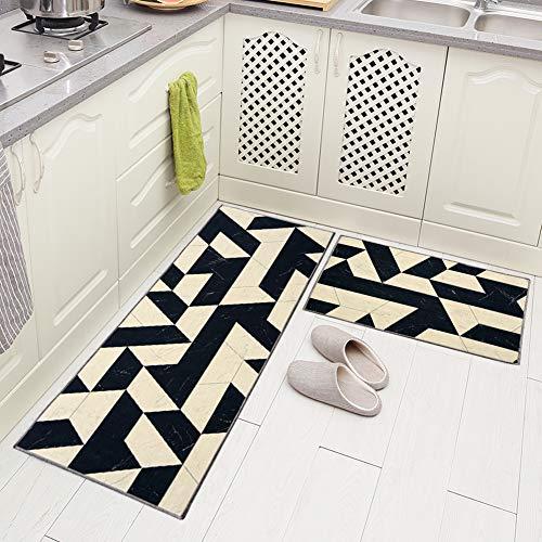 Carvapet 2 Pieces Non-Slip Kitchen Rug Non Slip Backing...