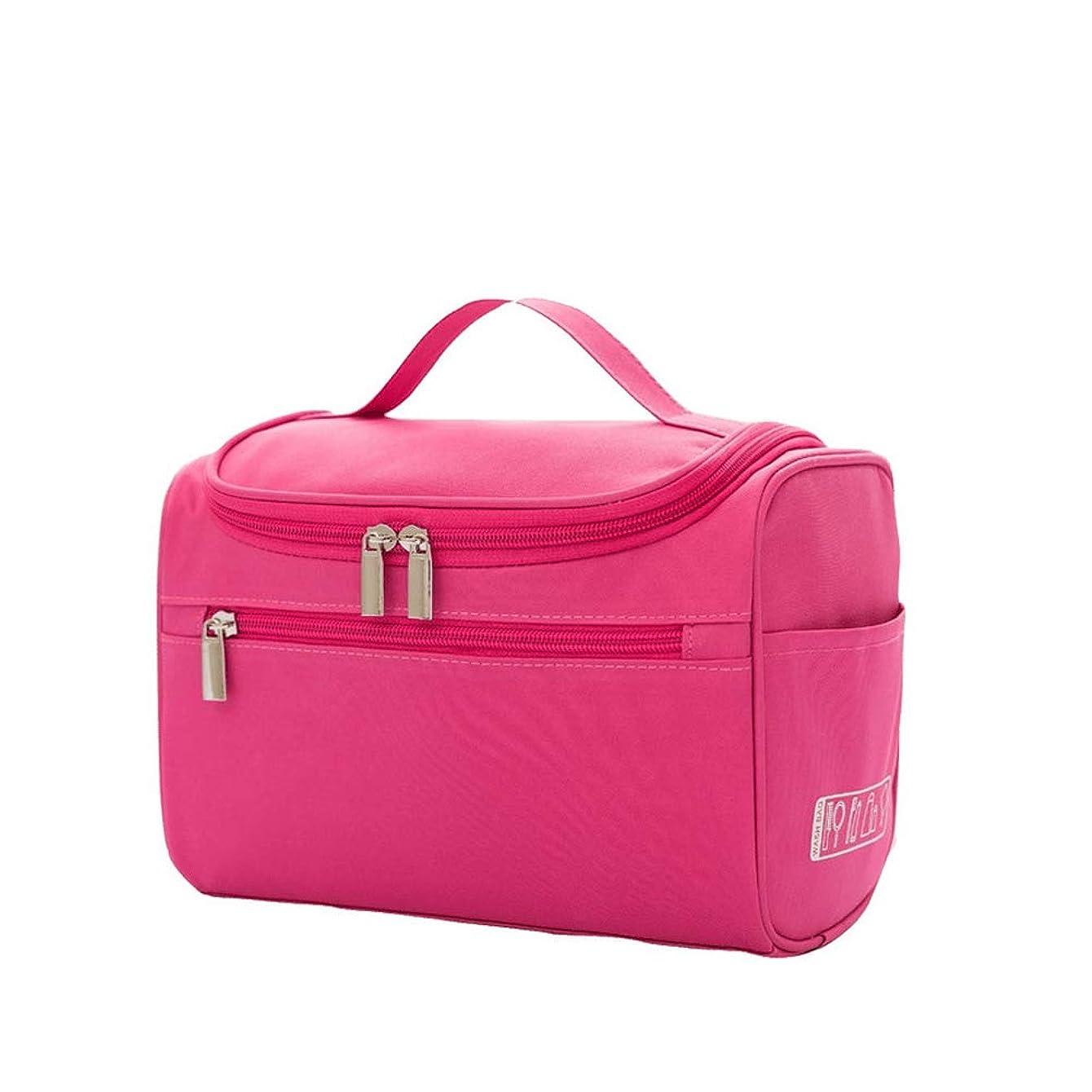 おじいちゃん壁極めてトラベルウォッシュバッグをぶら下げポータブル旅行化粧品袋主催防水メイクアップ化粧品袋をぶら下げ女性の赤いバラ