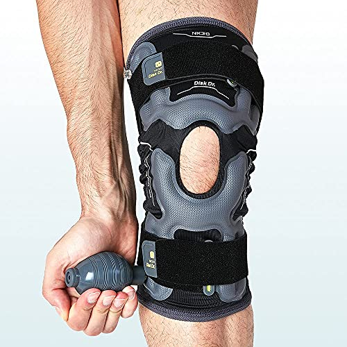 Disk Dr AIR Knee Brace Support & Compression for Patella, ACL/PCL Protection, Knee Support for Sports (Daily Life Type, Large)