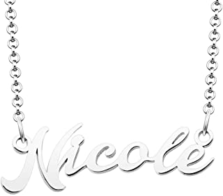 SexyMandala Personalized Name Necklace Custom Made Sterling Silver Pendant Women Choker Jewelry Same Day Shipping Valentine's Gift for Her