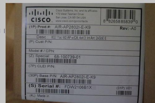 Cisco AIR-AP2802I-E-K9 White WLAN access point