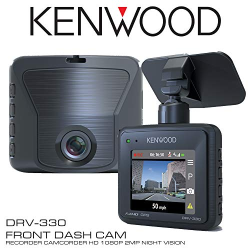 "Kenwood DRV-330 2"" Front Dash Cam Recorder Camcorder HD 1080p 2MP Night Vision"