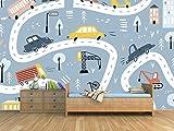 Oedim Fotomural Infantil Vinilo para Pared Coches Carretera | Mural | Fotomural Vinilo Decorativo | 100 x 70 cm | Decoración comedores, Salones, Habitaciones