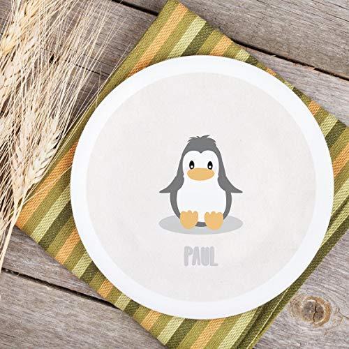 Teller Kinderteller Melaminteller Kunststoffteller Dreamchen Pinguin