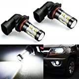 JDM ASTAR Bright White Max 50W High Power H10 9145 LED Fog Light Bulbs