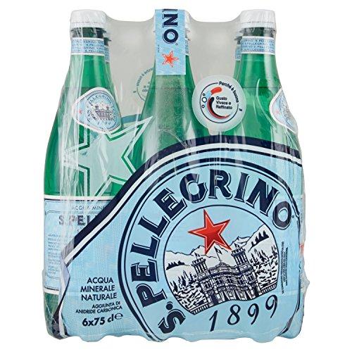 San Pellegrino Natürliches Mineralwasser aus italien 6er Pack 6 x 750 ml