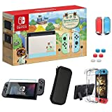 Newest Nintendo Switch 32GB Console with Neon Blue and Neon Red Joy-Con, 6.2' Touchscreen 1280x720 LCD Display, 802.11AC WiFi, Bluetooth 4.1, Bundled with TSBEAU 9 in 1 Carrying Case Accessories