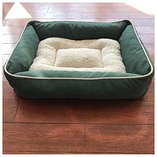 8bayfa Doghouse Cathouse Rettangolare Molli Spessi Pethouse Medium Large Size 64x58cm Canile Dog (Color : Turquoise, Size : 64x58cm)