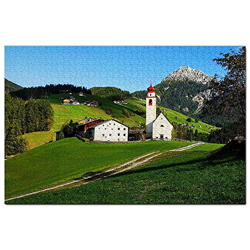 Rompecabezas Rompecabezas de Dolomitas de Prato Ladinia de Italia, 1000 piezas, obras de arte de viaje, recuerdo de madera