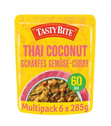 Tasty Bite Thai Coconut – Scharfes Gemüse-Curry, 6x285g