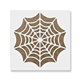 This spider web stencil is 100% Made in the USA by a small, family-owned business The size shown on the listing is the overall stencil sheet. Actual dimensions of the stencil graphic are about 10% smaller than the sheet Ships in one business day with...