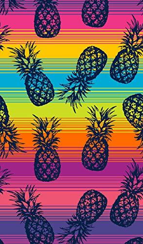 Secaneta Toalla de Playa Grande de 100x170 cm, de Algodón Egipcio 100%, Piña Club Capri, Multicolor, 100 x 170 cm