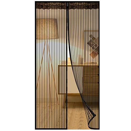 Zanzariera Magnetica Porta Finestra Resistente Traspirante, CACOE Zanzariere Magnetiche Tenda Rete Anti Zanzare Insetti Facile da installare(90x210, Nero)