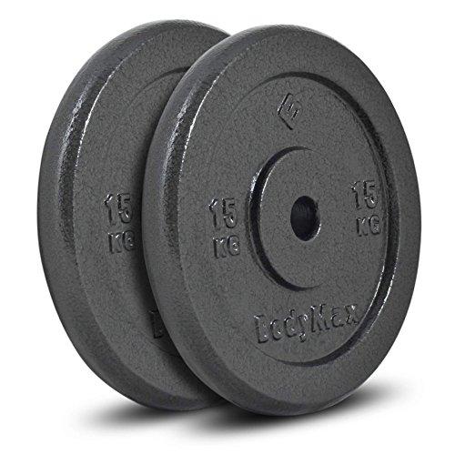 Bodymax Standard Hammertone Weight Disc Plates - 2 x 15kg