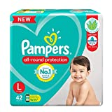 New Pampers all round-protection pants – best diapers for 2X Protection for your baby Anti Rash – India's only diapers containing Lotion with Aloe Vera that prevents rashes Ultra Absorb Magic gel – Locks in wetness with an inner layer of super absorb...