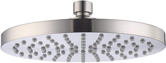 KES 2.5 gpm Rain Shower Head 8 Inch for Bathroom, Brushed Nickel, Fixed Mount, J201-2