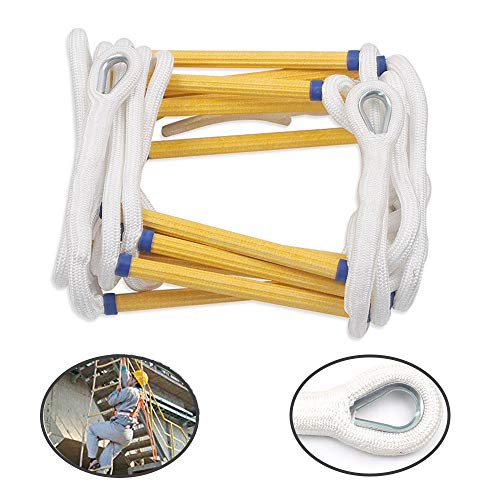 LANGYINH Emergency Fire Escape Rope Ladder met haken Child Climbing Ladder Draagbare Nylon Zachte Ladder Gebruik voor Emergency Escape, Klimmen Beweging