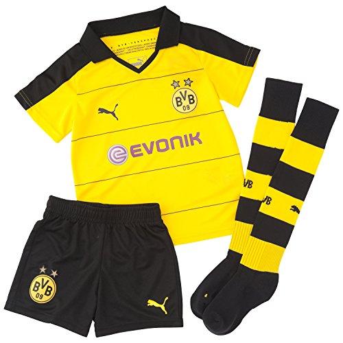 Puma Jungen Bekleidung BVB Home Minikit mit Socken, cyber yellow/schwarz, 104, 748013 01